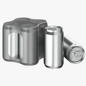 3D model soda pack 01