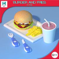 3D food burger