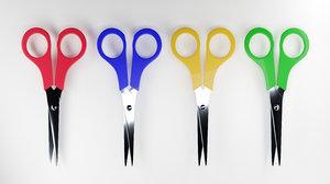 3D scissors blender colorful model