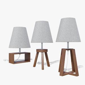 3D modern design lamps light bulb