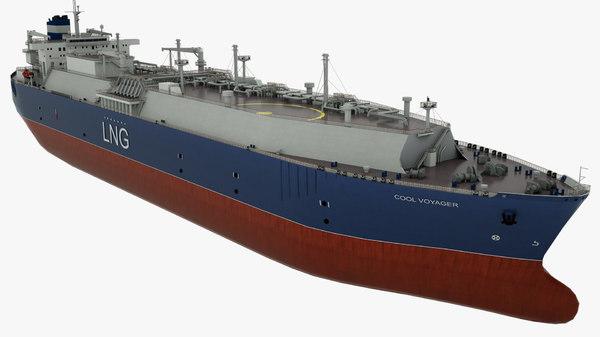 3D tanker cool voyager vessel model