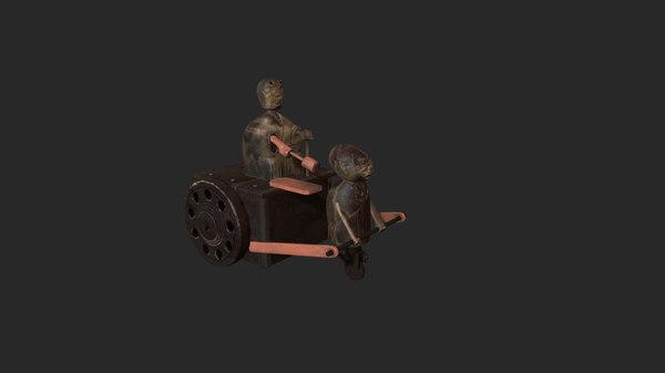 antique toys 3D model