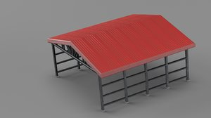 3D industrial roof canopy