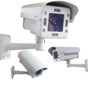 3D cctv security camera tv model