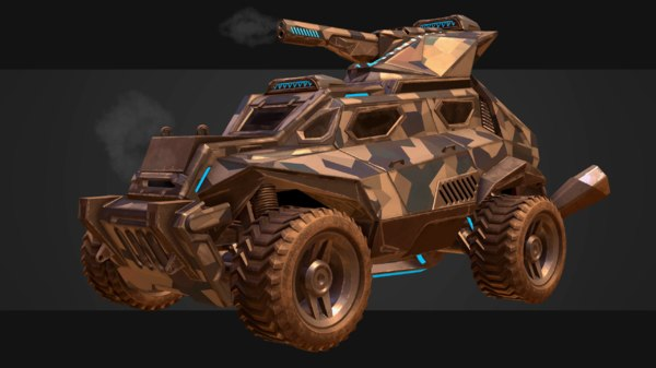 3D sci-fi military vehicles armored