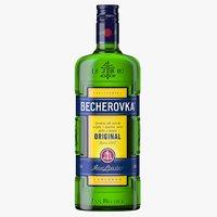 3D becherovka liqueur bottle model