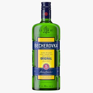 3D becherovka liqueur bottle model