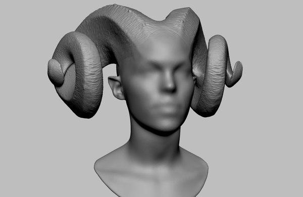 3D horn 3dprint stl model