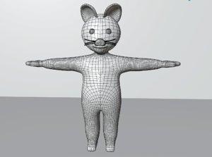 cartoon cat animations 3D model