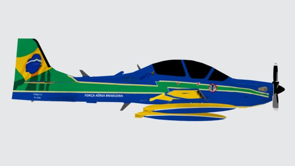 a-29a super tucano 3D model