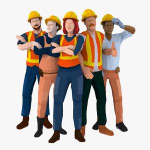 construction worker 3D model