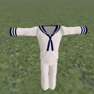 3D model sailor outfit