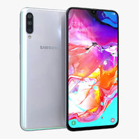 samsung galaxy a70 white 3D model