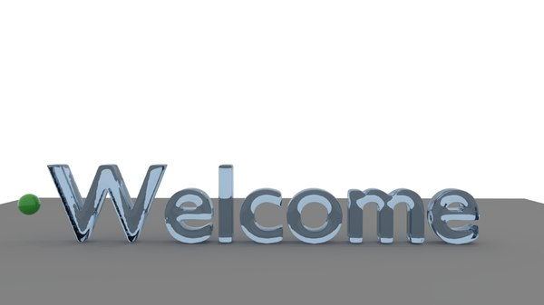 3D liquid welcome text animation model