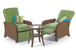 sawyer patio recliner 3D model