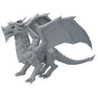 dragon low-poly 3D model