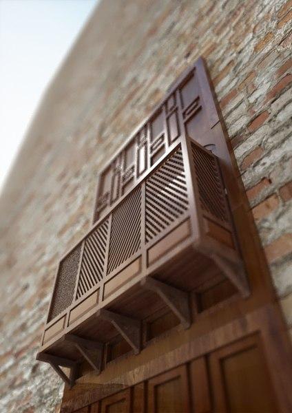 3D mshrabya window