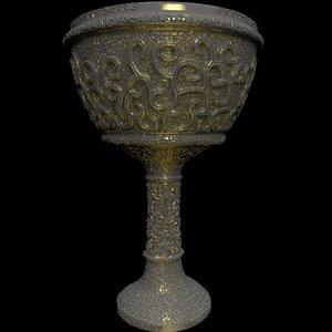 3D goblet zbrush ztl model