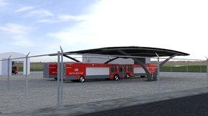 3D model department extinguisher trucks