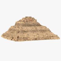 3D model pyramid meritetes