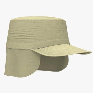 3D patrol cap ear flaps