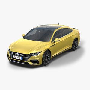 3D model volkswagen aerton r-line 2018
