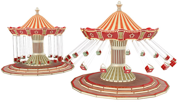 funfair swing 3D model