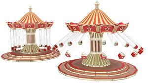 funfair swing 3D model