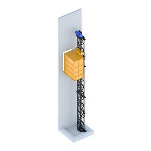 3D - industrial lift