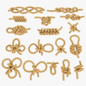 3D rope knots model
