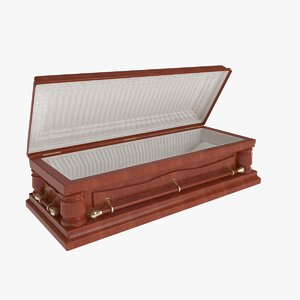 3D coffin casket model