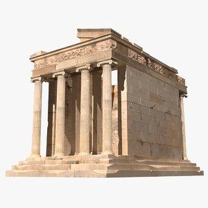 3d temple nike model