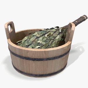 ready sauna bowl birch model