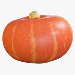 3D realistic pumpkin small 1