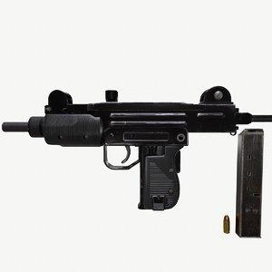 3D mini uzi guns
