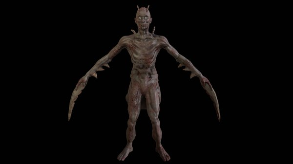 horror shooter animations model