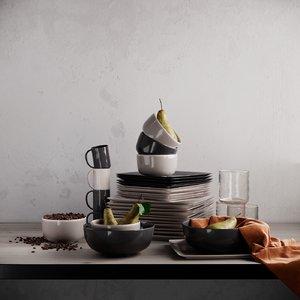 3D mason square dinnerware set
