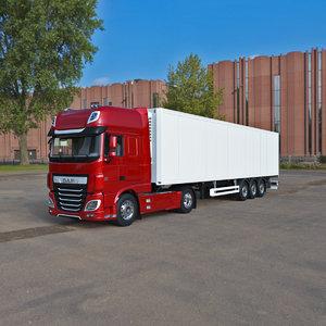 3D daf xf 2020 semi truck