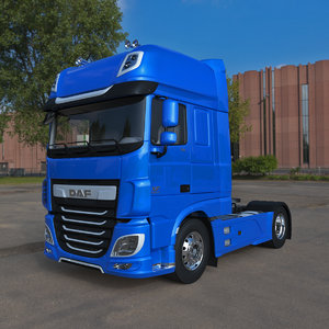 3D model daf xf 2020 semi truck