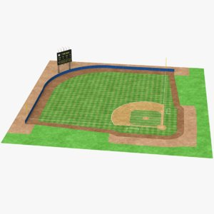 3D real baseball field