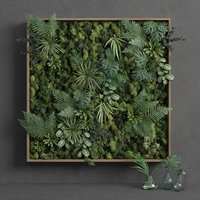 3D model decorative green moss set