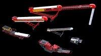 3D model impactor screening conveyor