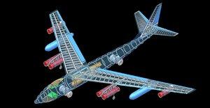 b-47 bomber aircraft solid 3D model
