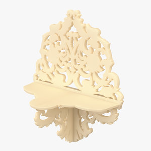 carved wall shelf 3D model
