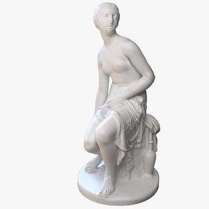 3D nymph statuette statue
