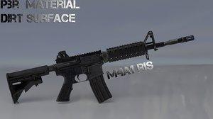 3D carbine m4a1 gun model