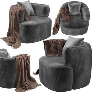 zito living zb-03 armchair 3D
