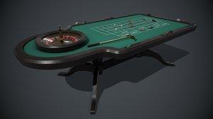 roulette table pbr 3D model