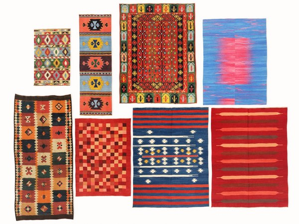 3D vintage turkish kilim rugs model