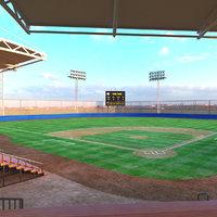 3D real baseball stadium model